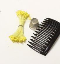 Bunch of Double Ended Yellow 2mm Flower Making Peps